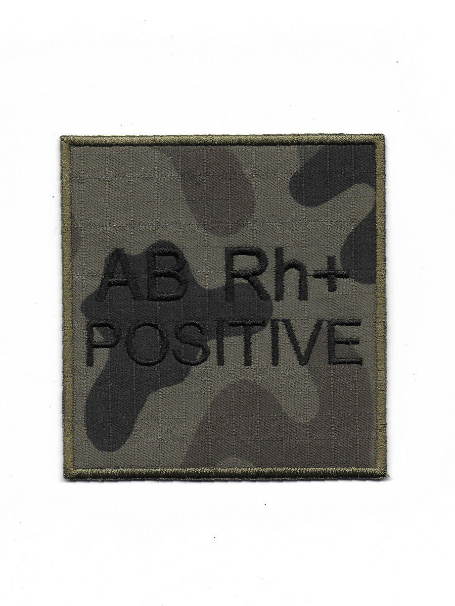 Produkt naszywka grupa krwi AB Rh+